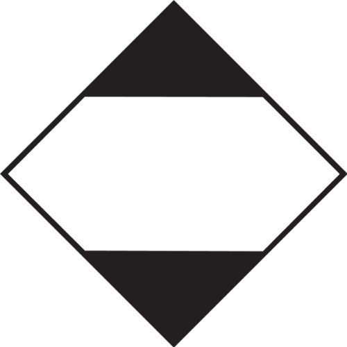 Accuform MPL909CT100 PF-Cardstock Limited Quantity DOT Placard for Land or Sea Transportation, 10-3/4'' Width x 10-3/4'' Length, Black and White (Pack of 100) by Accuform (Image #1)