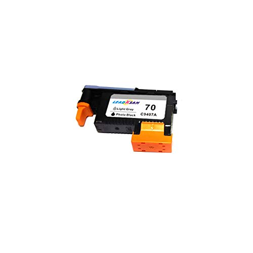 printhead Compatible for hp 70 Replacement for hp70 C9404A C9405A C9406A C9407A Designjet Z2100 Z5200 Z3100 Z3200 Printer (PK/LG(C9407A) x1)