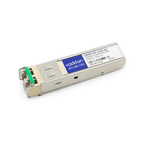Image of Network Transceivers AddOncomputer.com Cisco CWDM-SFP-1530 Compatible 1000BASE-CWDM SFP