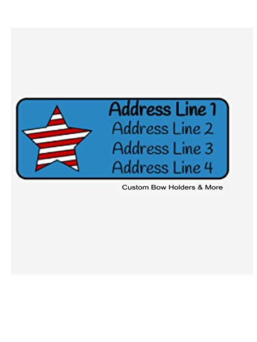 Personalized Address Labels, Fourth Of July Star, Set Of 60, Personalized Independence Address Labels, 4th Of July Labels, Memorial Day, Labor Day Labels ()