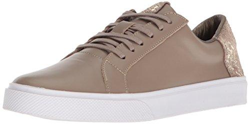 (KAANAS Women's San Rafael Contrast Heel Lace-Up Leather Casual Fashion Sneaker)