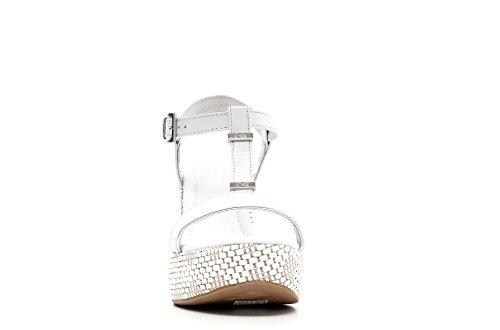 Nero Giardini Sandalo con zeppa donna Pelle Articolo P615600D 707 Bianco P6 15600 D