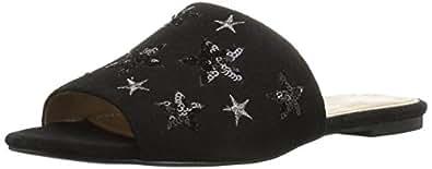 The Fix Women's Foster Star Slide Sandal, Black, 6 B US