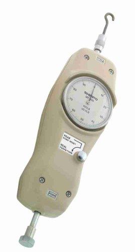 Shimpo MF-2 Peak Hold Analog Mechanical Force Gauge, 0.01 lbs Graduation, 2 lbs Range by Shimpo