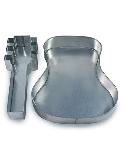 Two Piece Large Guitar Shape Cake Tin Pan for Birthday Novelty Fun Cake Mould Length 9'', Width 11'', Depth 2''