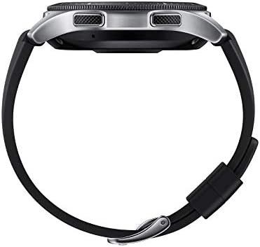 Samsung Galaxy Watch (46mm, GPS, Bluetooth, Unlocked LTE) – Silver/Black (US Version)