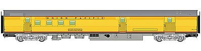 85' Budd Baggage-Railway Post Office - Ready To Run -- Union Pacific(R) (Armour Yellow, -