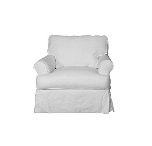 Sunset Trading Horizon Slipcovered Chair in Warm White