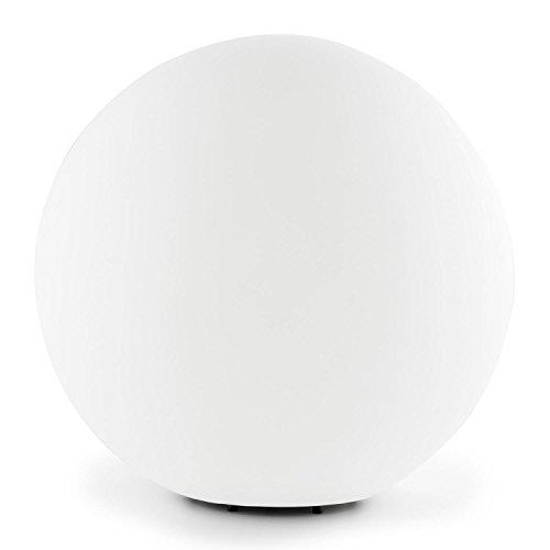 Lightcraft Shineball L runde Kugel-Lampe Kugelleuchte Kugellicht verwendbar als Außen- Garten- Weg- Teich- Boden- oder Gartenlicht (40cm Durchmesser, Spritzwasserdicht, inkl. aufsteckbarer Erdnägel) weiß