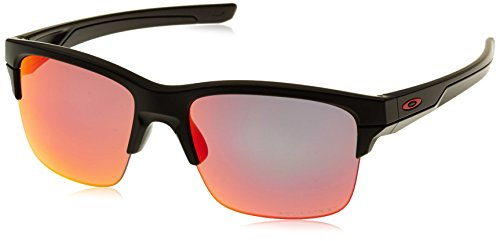 Oakley Thinlink Polarized Sunglasses, Matte Black/Torch Iridium, One - Latest Design Oakley