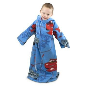 Cars 2 - Batamanta polar con mangas Diseño City Web para niños (90cm x 120cm/Azul/Rojo) UTKF153_1