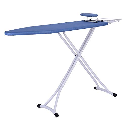 Transser Adjustable Ironing Board with Cotton Cover & Alloy Steel | Iron Holder Stand | Stability Foldable Space Saver | Easy Storage | 48 x 15 inches | Shipping From CA. or NJ.