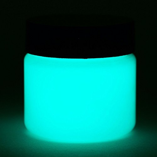 Glow In The Dark Paint - Premium Artist's Acrylic - 1 Ounce (Neutral Aqua) - 5+ Colors (Magic Color Wheel)