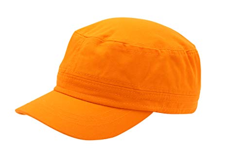 Quality Merchandise Cadet Army Cap - Military Cotton Hat, ORG (Orange Military Cap)
