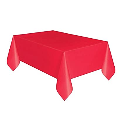 Creative Converting Touch of Color 54-Inch x 108-Inch Plastic Table Cover, Classic Red (Pack of 2) by Creative Converting