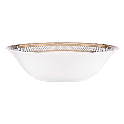 Lenox Gorham Chancellor Vegetable Bowl, White/Blue