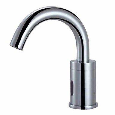 Centerset contemporary touch hands-free/non-contact ceramic valve hole Chrome bathroom sink faucet