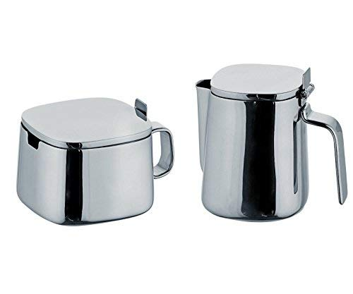 - Alessi Kristiina Lassus Design Series Stainless Steel Sugar Bowl & Creamer Set