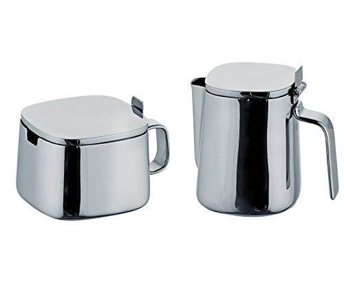 Alessi Kristiina Lassus Design Series Stainless Steel Sugar Bowl & Creamer Set