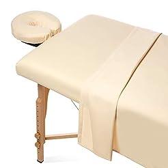 Saloniture 3-Piece Microfiber Massage Ta...