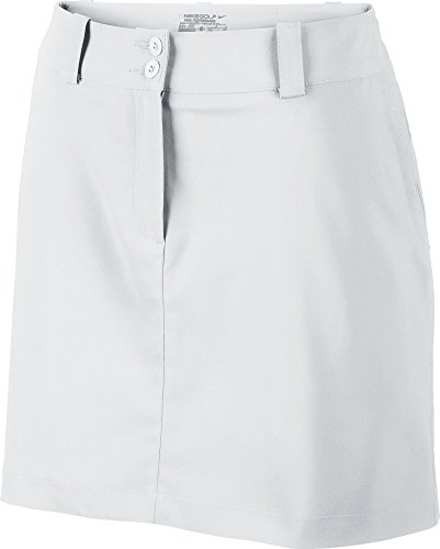 Nike Women's Modern Rise Tech Golf Skort, White - 14