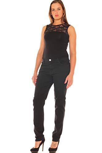 Scuro In Taglia Sigaretta Morbida Jeans Denim Stretch Nero A Donna 1wWYnxPqt4