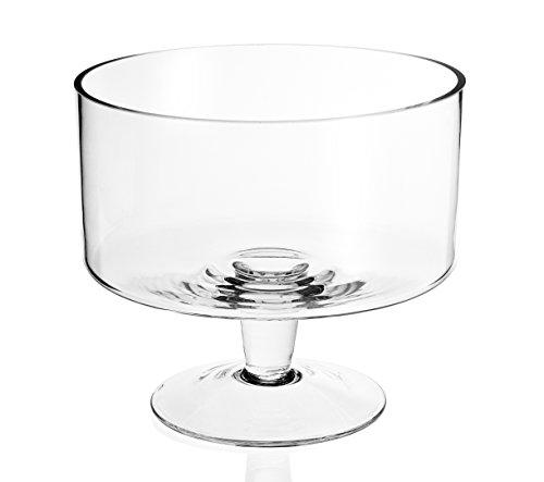 "Badash Lexington Mouth Blown Glass Trifle Bowl 9"""