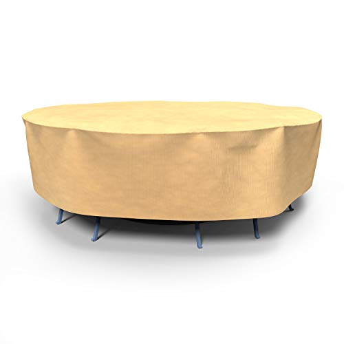 EmpirePatio Classic Nutmeg Round Patio Table and Chairs Combo Cover, Extra Large