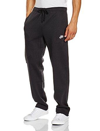 Nike Mens Open Hem Fleece Pocket Sweatpants Black/White 8...