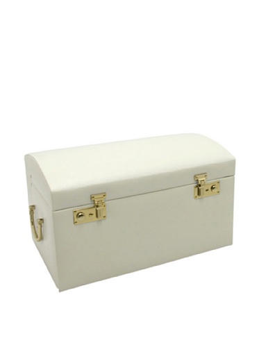 Morelle Marylyn Leather Jewelry Chest with 3 Takeaway Cases, Cream by Morelle & Co