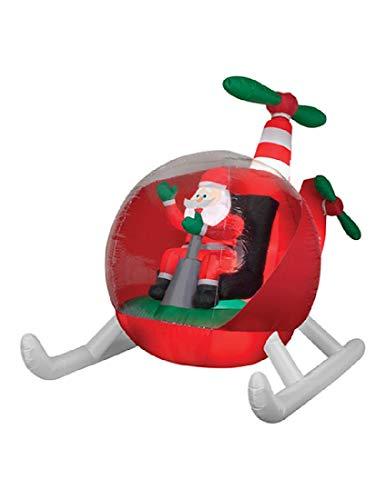 Sunstar Animated Airblown Helicopter Santa Gemmy Prop Christmas Decor Decoration]()