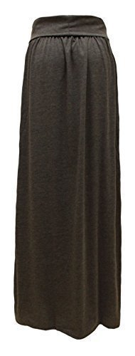 GLAM COUTURE NEUF FEMMES LONG EXTENSIBLE JUPE LONGUE JERSEY GB TAILLES 8-14 Gris Charbon