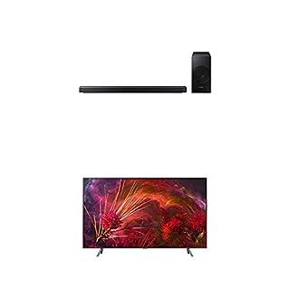 "Samsung QN65Q8F Flat 65"" QLED 4K Ultra HD Smart TV (2018) with Samsung 3.1-Channel Soundbar Home Speaker, Charcoal, Set of 2 (HW-N550/ZC) Bundle (B07L3F4HF7) | Amazon price tracker / tracking, Amazon price history charts, Amazon price watches, Amazon price drop alerts"
