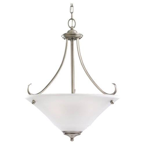 - Sea Gull 69381BLE-965 15-3/4-Inch Albany Pendant Light with Frosted Shade, Brushed Nickel