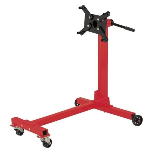 SKEMiDEX---New Shop Engine Stand 1000lb Pro Hoist Automotive Lift Rotating 4 Leg Type Motor. Lever handle for trouble-free 360° engine rotation on the stand Four adjustable arms for easy engine block