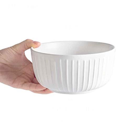 (BHDYHM Ceramic Cereal Soup Pasta Bowls, Soup Bowl, European Retro Household Ceramic Bowl Rice Bowl Porridge Bowl for Home Kitchen Restaurant Tableware Fruit Snack Bowl Dessert Bowl (Size : M))