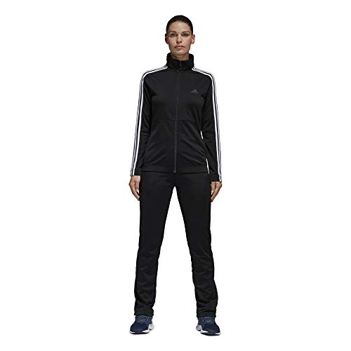 adidas Women Track Suit Back to Basics Training 3-Stripes Black Size XL -