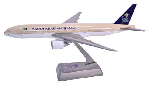 (Saudi Arabian (97-Cur) 777-200 Airplane Miniature Model Plastic Snap-Fit Scale 1:200 Part# ABO-77720H-015)