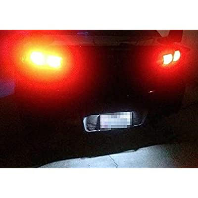 iJDMTOY OEM-Fit 3W Full LED License Plate Light Kit Compatible with 2001-17 Mitsubishi Lancer & Evolution X, Powered by 18-SMD Xenon White LED: Automotive