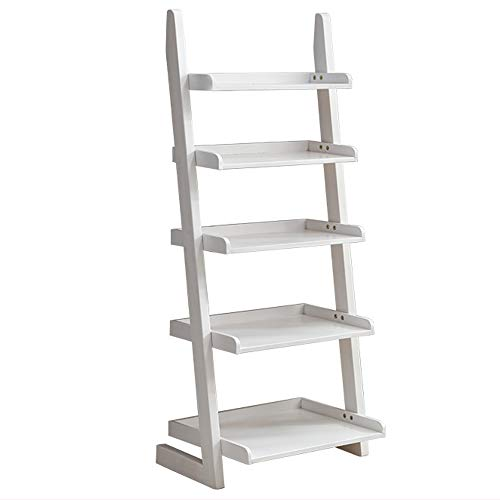 YHS bookshelf Simple Modern Corner Trapezoidal Shelf Rack 60X30X140cm (Four Colors Available) Showcase (Color : D)