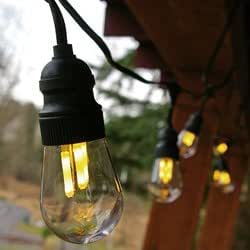 75 Foot Globe String Lights : Amazon.com: Commercial LED Edison Globe String Lights, 75 ft. Black Wire, Warm White: Home & Kitchen