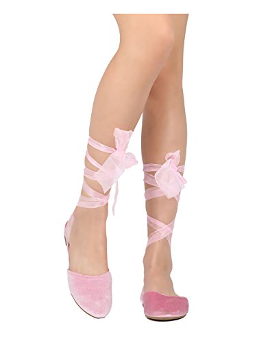 Robbin Women Up Juliet Wrap 3 Lace Dressy Sheer Costume Ankle Flat Casual Cape Pink Velvet Sandal wgCxq5d