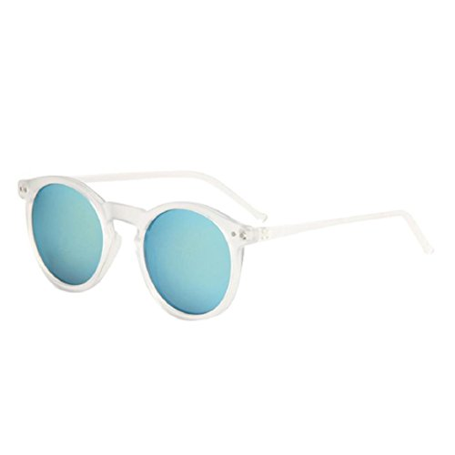 Ikevan 2017 Fashion Retro Women Fashion Circular Sunglasses Metal Frame Sunglasses Brand Classic Tone Mirr (08)