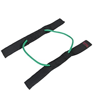 SPRI Xercuff Leg Resistance Band Exercise Cord with Non-Slip Padded Ankle Cuffs, Green, Light (Color: Green, Tamaño: Light)