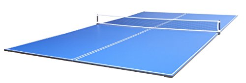 (JOOLA Tetra - 4 Piece Ping Pong Table Top for Pool Table - Includes Ping Pong Net Set - Full Size Table Tennis Conversion Top for Billiard Tables - Easy Assembly & Compact Storage - Incl. Foam Backing)