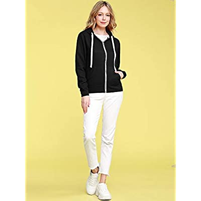 Come Together California CTC Womens Active Fleece Zip Up Hoodie Sweater Jacket at Women's Clothing store