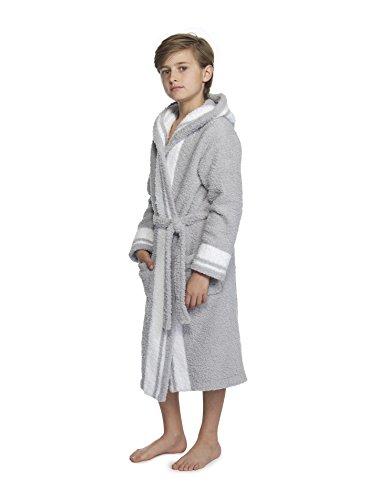 - Barefoot Dreams Cozychic Youth Striped Robe Ocean/White Stripe
