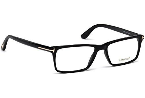 a8080f7649 TOM FORD Men s TF 5408 001 Black Clear Rectangular Eyeglasses 56mm