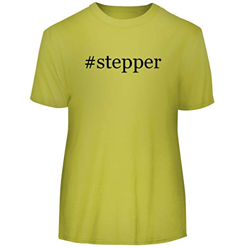 (One Legging it Around #Stepper - Hashtag Men's Funny Soft Adult Tee T-Shirt, Yellow, XX-Large)