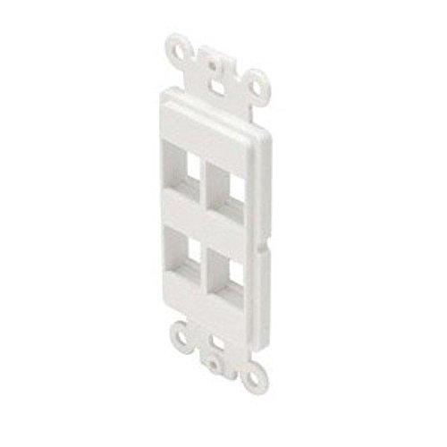 - 310854WH White Decorator Style Keystone Inserts 4 Cavity
